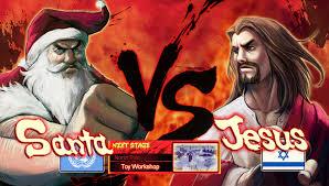 Monkey Jesus Meme - the monkey buddha santa vs jesus