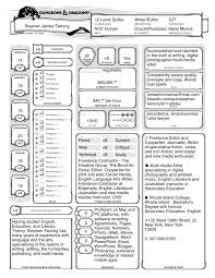 Scribe Resume Dungeons And Dragons Resume U2013 12th Level Scribe Versemicroverse