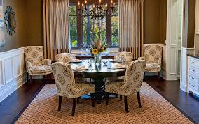 Allen Roth Area Rug Inspired Parsons Chairsin Dining Room Traditional With Glamorous
