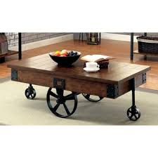 Wooden Coffee Table With Wheels by Wood Metal Coffee Table With Wheels Free Shipping Today