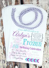 unique frozen birthday party invites with treat inside party part 2