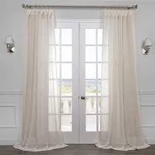 Ivory Linen Curtains Linen Curtains Drapes For Less Overstock