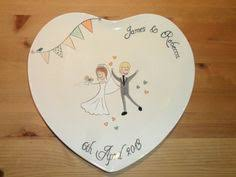 and groom plates wedding plate painted wedding plate by neatstuf on etsy