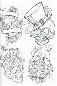 sketches skull flash for free skull tattoos