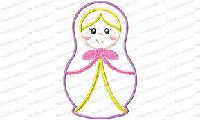 matryoshka russian nesting doll 1 applique embroidery design