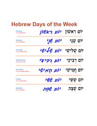 Hebrew Worksheets Days Of The Week Worksheet By Akhlah Teaching Resources Tes
