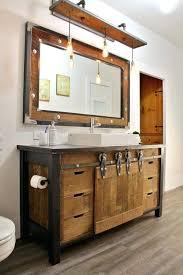 Reclaimed Wood Bathroom Mirror Wood Bathroom Vanities Reclaimed Wood Bathroom Vanity With Metal