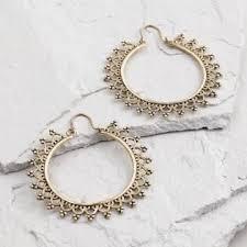 earrings world large gold etched hoop earrings world market jewelry fix