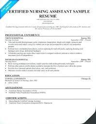 nursing assistant resume certified nursing assistant resume exles
