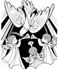 free printable christmas angel coloring pages coloring pages