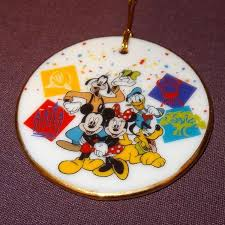 walt disney world ornament 2 mickey minnie mouse