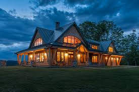 porch at night night pasture farm chelsea vt modern timber home homes