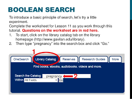 search basics and the library catalog