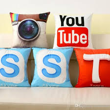 instant message app design cushion cover whatsapp youtube skype