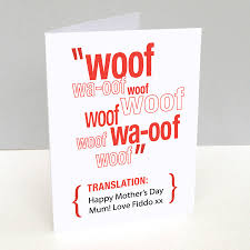 Mother Day Card by Personalised Pet Translation Mother U0027s Day Card By Loud Duck Design