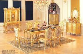gold dining table set gold dining table luxury set with 6 chairs wooden furniture color in