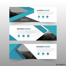layout banner template blue abstract triangle corporate business banner template