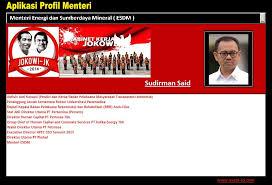 profil jokowi dan jk aplikasi profil menteri kabinet kerja jokowi jk pake excel