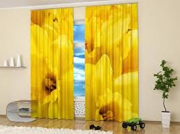Yellow Window Curtains 15 Window Curtains With Colorful Art Prints Of Beautiful Flowers