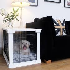 Dog Crate Covers White Wooden Dog Crate Cover U0026 Crate Combo