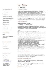 resume information technology manager it manager resume template director sle writer technical