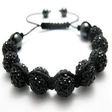 shamballa bracelet images Black unisex shamballa bracelet crystal disco ball friendship bead jpg