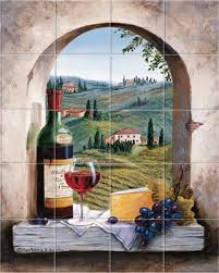 italian dreaming of tuscany kitchen tile backsplashes murals
