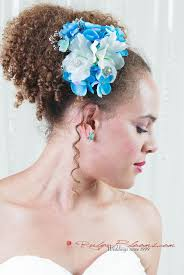 flower headband blue flower headband bridal hair accessory