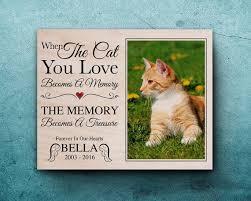 cat memorial cat memorial frame loss of cat pet bereavement gift pet