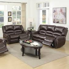 Reclining Living Room Set Living Room Leather Sofa And Recliner Set With Regard To