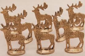 reindeer ornaments solid brass miniature deer dept 56 christmas reindeer