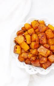 simple roasted cinnamon butternut squash one lovely