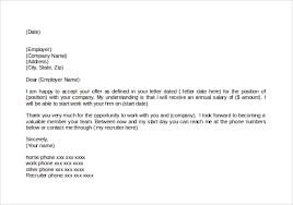 brilliant ideas of thank you letter accepting job offer sample