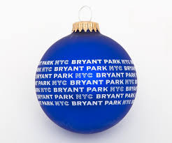 bryant park nyc ornament