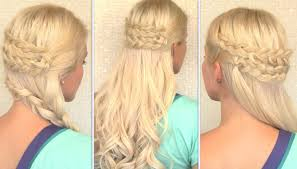 bohemian half up half down hairstyle everyday side swept braid