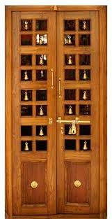 Teak Wood Pooja Room Door Designs
