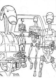 draw droidekas star wars coloring draw