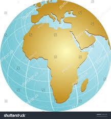 Map Of The Africa by Map Africa On Spherical Globe Cartographical Stock Vector 27429796