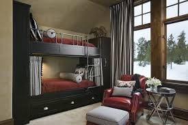 Built In Bunk Bed Contemporary Bedroom With Custom Built In Bunk Beds And