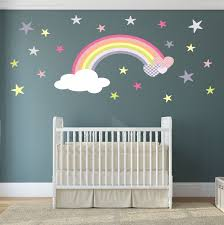 Decoration Kids Wall Decals Home by Popular Items For Rainbow Wall Decal On Etsy Nursery Decor With