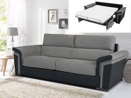 canap gris et noir canapé 3 places convertible express tissu simili lisbeth