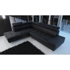 canapé d angle noir simili cuir canapé d angle daylon
