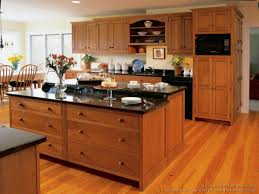 craftsman style kitchen cabinets light wood floors with cherry