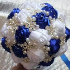 Polyester Flowers - crystal diamond bouquet wedding bouquet de mariage polyester
