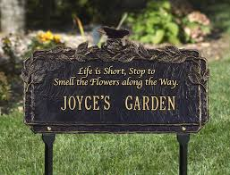 garden plaques personalized outdoor memorial plaques