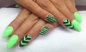 nail designs green and black beautify themselves with sweet nails