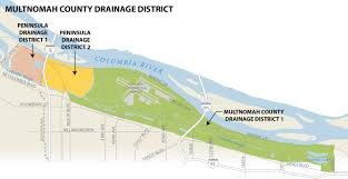 Portland Oregon On Map by Stormwater Charges In Drainage Districts The City Of Portland