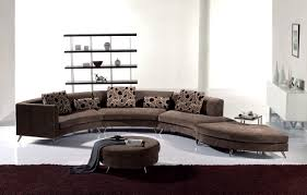 furniture white curved sectional sofa with black cushions for