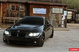 custom black bmw black is the new black bmw 3 series on custom satin black vossen