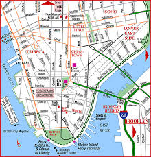 downtown manhattan map road map of lower manhattan city trade ctr